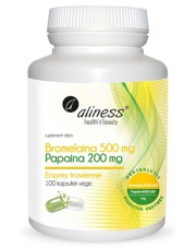 Bromelaina 500 mg i Papaina 200 mg