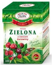 Herbata zielona z owocem żurawiny