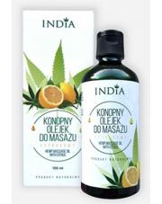 Konopny olejek do masażu - cytrusowy
