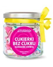 Cukierki bez cukru słodzone ze stewią wykonane ręcznie