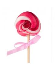 Lizak bez cukru wykonany ręcznie o smaku wiśniowym