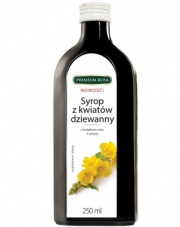 Syrop z kwiatów dziewanny z dodatkiem soku z cytryny