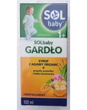 SOLbaby gardło syrop z agawy organic + propolis, prawoślaz i babka lancetowata
