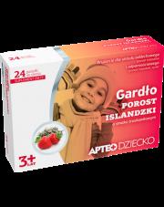 Gardło porost islandzki o smaku truskawkowym