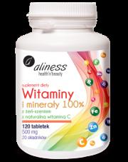 Witaminy i minerały 100% z żeń-szeniem, z naturalną witaminą C 700 mg