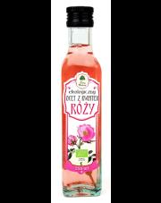 Ekologiczny ocet z kwiatem róży