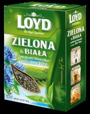 Loyd Herbata zielona i biała z płatkami bławatka o smaku Aloe Vera