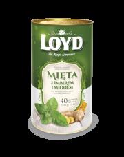 Loyd Herbata ziołowa aromatyzowana Mięta z imbirem i miodem